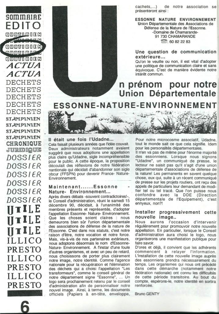 Environnement 91 4e trimestre 1990 P6