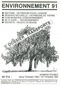 Environnement 91 Couv 4e trimestre 1990